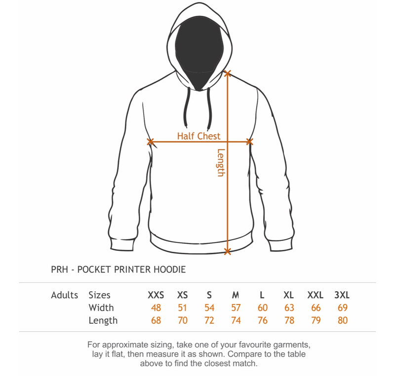 Hoodie- Dark Navy with Orange Hi-Vis - Hi-Vis-Trends
