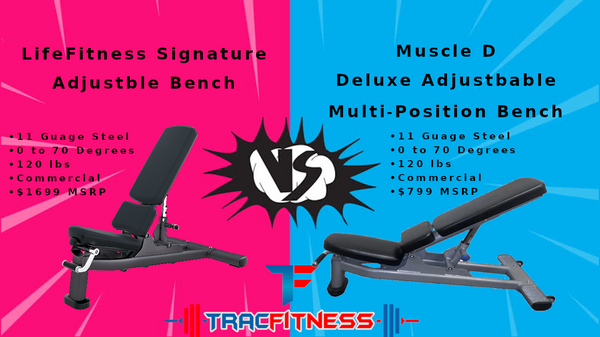 Muscle D vs LifeFitness Signature Adjustable Bench