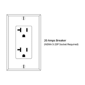 Required 20-Amp Breaker for use with JNH 3 Person Sauna.