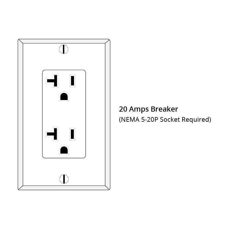 Required 20-Amp Breaker for use with JNH Corner Sauna.