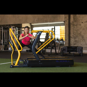 Roller Deck allows for an intense workout on the Abs Sled Mill Treadmill.