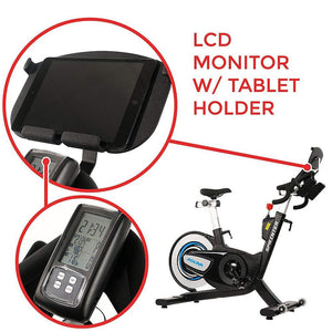 ASUNA Sprinter Magnetic Belt Driven Commercial Cycling Bike + LCD Monitor