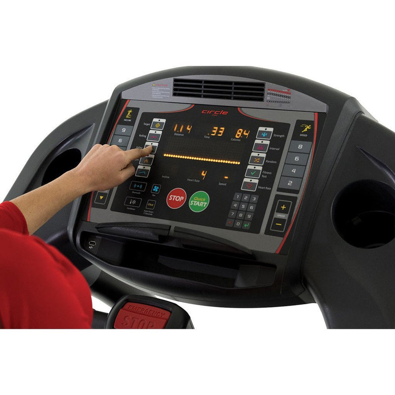 Circle Fitness M7 Treadmill Console Panel.
