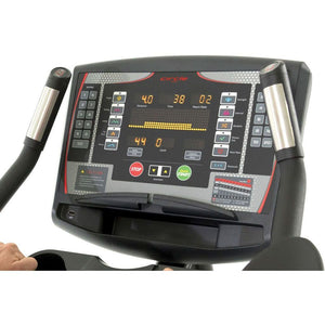 Circle Fitness B7 Self-Powered Upright Bike Screen.