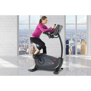 Circle Fitness B7 Self-Powered Upright Bike workout.
