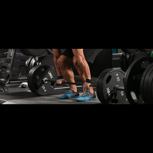 Deadlifting exercise using the Umax TPU Urethane Weight Plates.