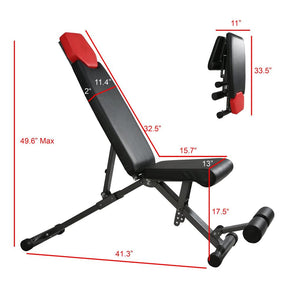 Finer Form Adjustable Bench Specifications and Dimensions.