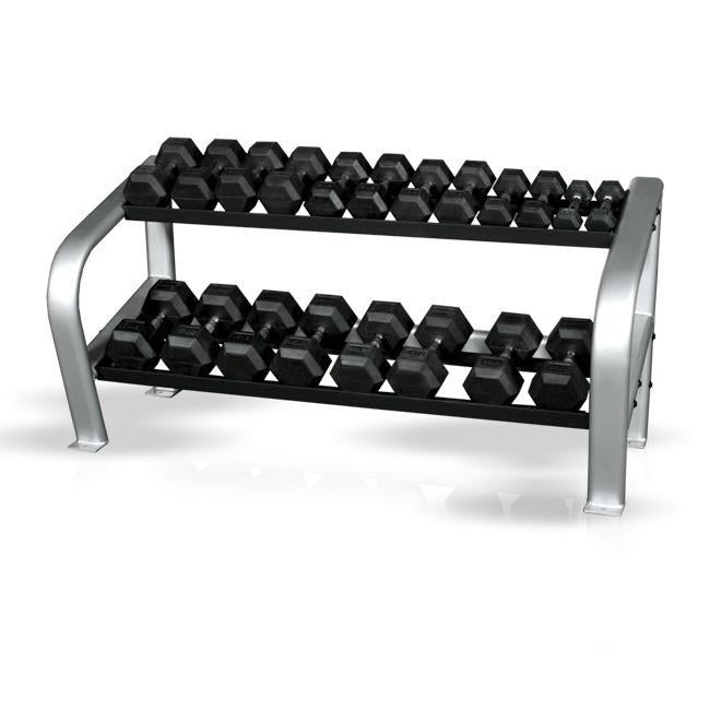 Inflight Fitness Deluxe 2 Tier Hex Dumbbell Rack