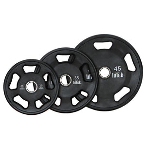 INTEK Armor Series Solid Urethane Olympic Plates 45-35-25 lbs.