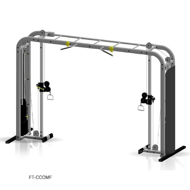Inflight Fitness Cable Crossover with monkey bar crossbeam.