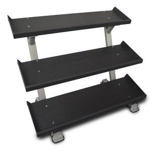 "Inflight Fitness Commercial 3-Tier 54"" Dumbbell Rack."