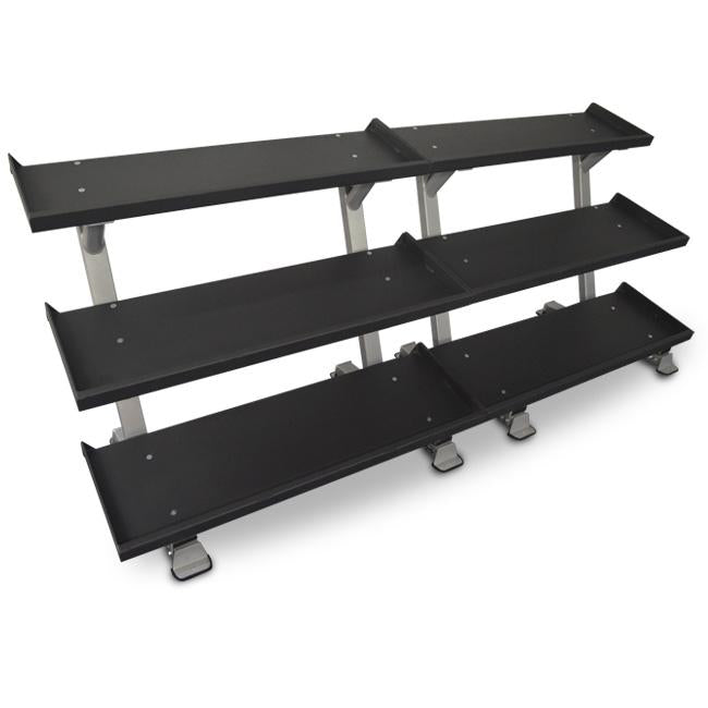 "Inflight Fitness Commercial 3 Tier 109"" Dumbbell Rack System"