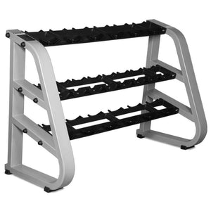 INTEK 3 Tier Pro-Style Dumbbell Rack with Saddles