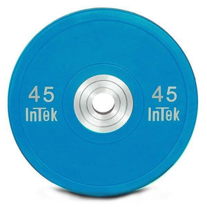 INTEK Armor Series Colored Urethane Training Bumper Plate Blue