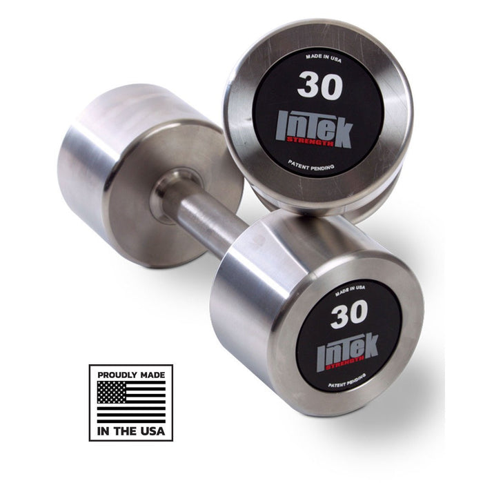 INTEK Delta Series Stainless Steel Dumbbells