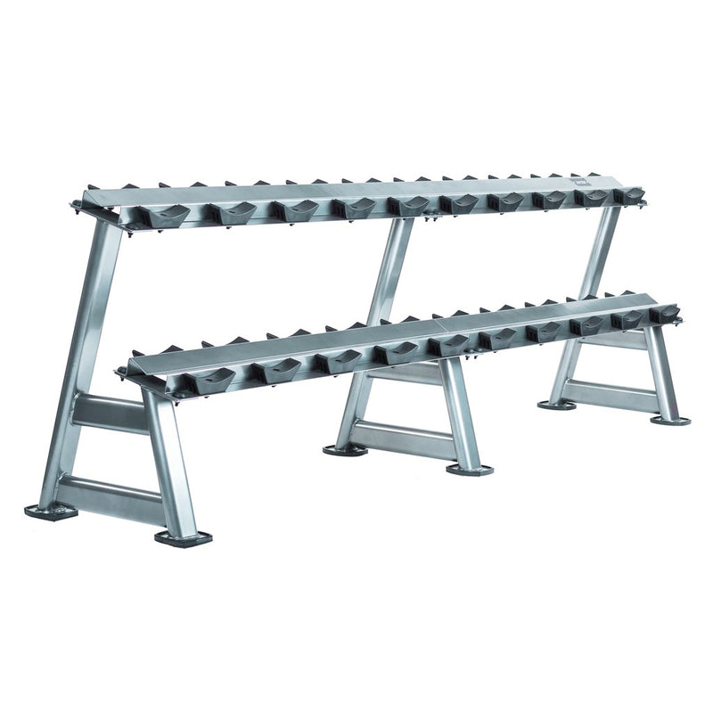 Intek 2-Tier Dumbbell Rack Pro-Style with Saddles.