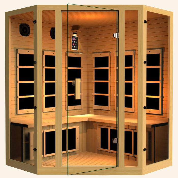 JNH LifeStyles Joyous 4 Person Corner Infrared Sauna