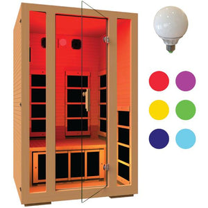 JNH LifeStyles Chromotherapy Lights for JNH Infrared Saunas.