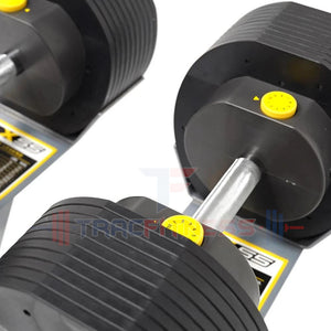 MX55 Select Adjustable Dumbbells - Knurled Handles.