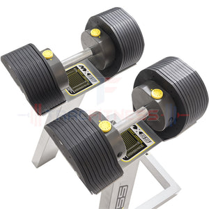 MX55 Select Adjustable Dumbbells - top view.