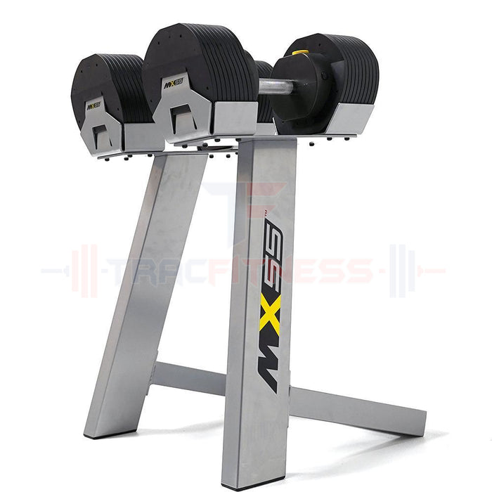 MX55 Select Compact Adjustable Dumbbells 5-55 lbs with Stand