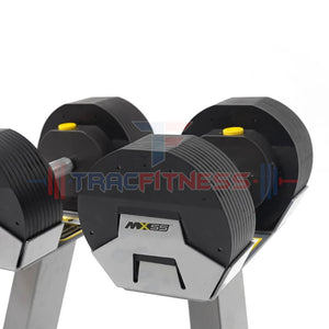 MX55 Select Adjustable Dumbbells - Front View.