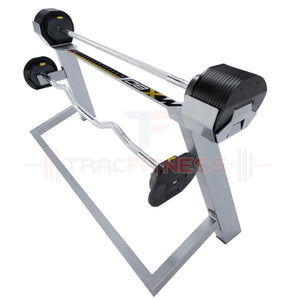 MX80 Select Compact Adjustable Barbells 20-80 lbs with Stand.