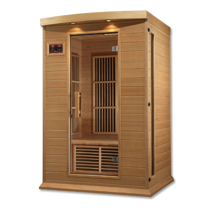 Maxxus Canadian Hemlock Near Zero EMF 2 Person Infrared Sauna - side view alternate