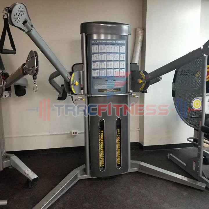 Muscle D Multi-Functional Trainer MDM-MFT - show with arms extended halfway.
