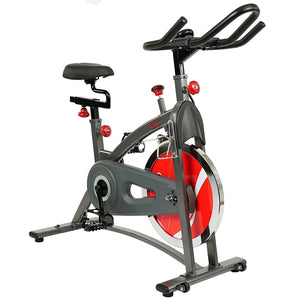 Sunny Health & Fitness SF-B1423 Belt Drive Indoor Cycling Bike + Monitor