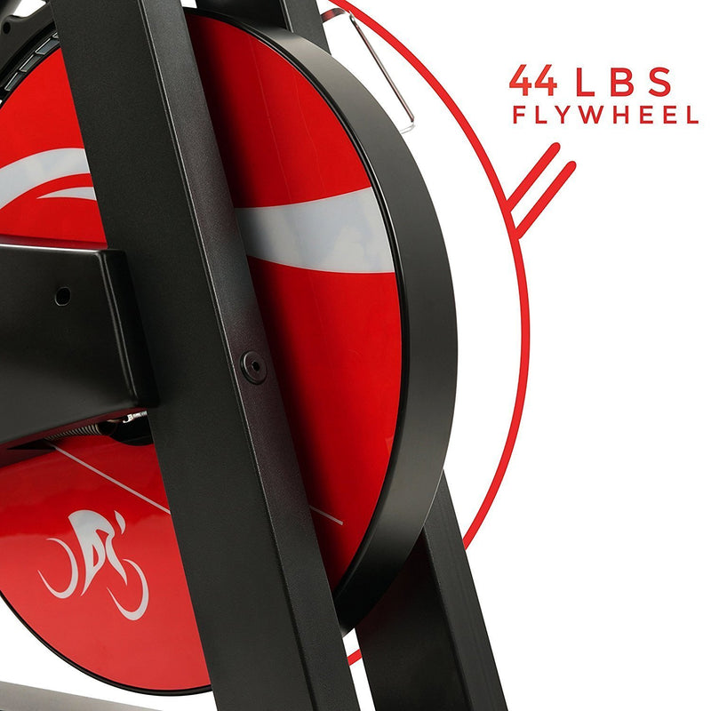 Sunny Health & Fitness SF-B1714 Evolution Pro Indoor Cycle - 44lb Flywheel.