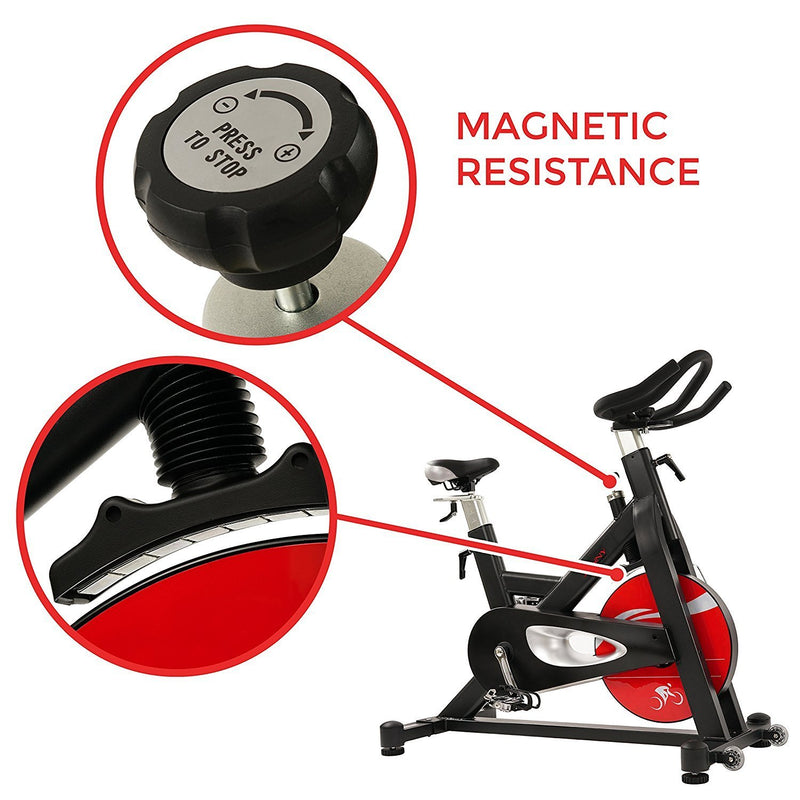 Sunny Health & Fitness SF-B1714 Evolution Pro Indoor Cycle - Magnetic Resistance.