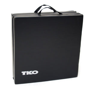 TKO 2' x 6' Tri-Fold Gym Folding Exercise Mat tranpsort handles.