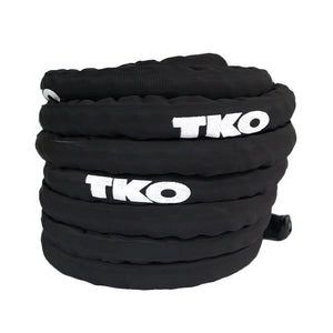 TKO Black 50' Deluxe Nylon Covered Battle Rope