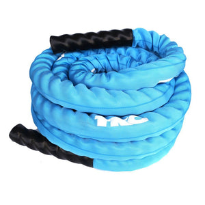 TKO Blue 30' Deluxe Nylon Covered Battle Rope.