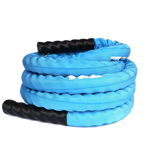 TKO Blue Deluxe Nylon Covered Battle Rope 30' long.