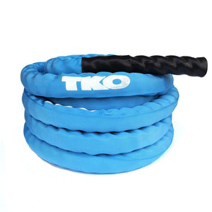 TKO Blue Deluxe Nylon Covered Battle Rope.