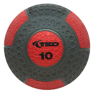 TKO 10 lb Commercial Rubberized Medicine Ball