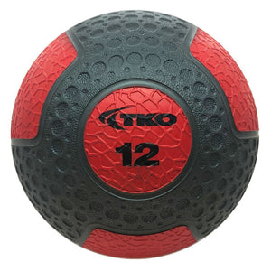 TKO 12 lb Commercial Rubberized Medicine Ball