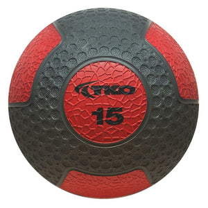 TKO 15 lb Commercial Rubberized Medicine Ball