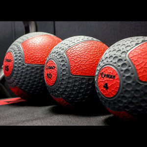 TKO Commercial Rubberized Medicine Balls Set of 3 Balls.