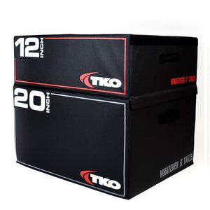 "TKO Stackable Foam Plyo Box 12""and 20 inch stacks."