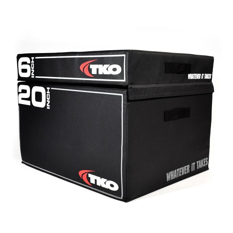 "TKO Stackable Foam Plyo Box 6"" and 20 inch stacks."
