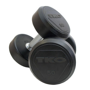 TKO Commercial Round Rubber Dumbbells.