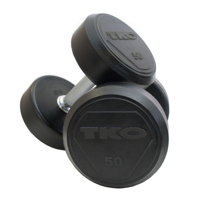 TKO Commercial Round Rubber Dumbbells