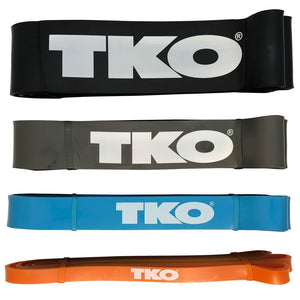 TKO Strength Bands from Extra Light to Heavy