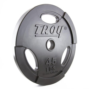 Troy Barbell GO-U Urethane 45 lb Olympic Plate with Grips.