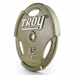Troy GO Cast Iron Interlocking Gripped 45 lb Olympic Plate.