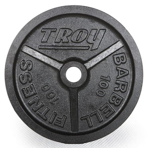 Troy Premium Cast Iron 100 lb Deep Dish Black Olympic Plate.