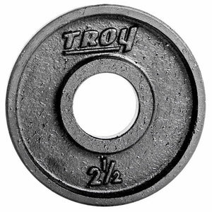 Troy Premium Cast Iron 2.5 lb Deep Dish Black Olympic Plate,